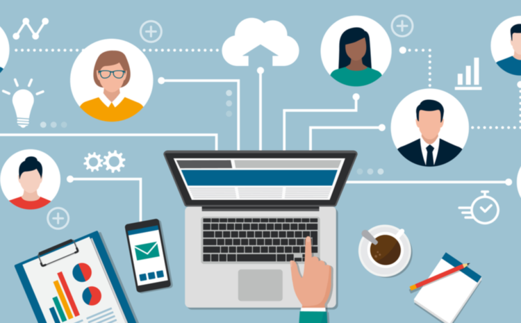 featured image illustrations showing a remote work setup