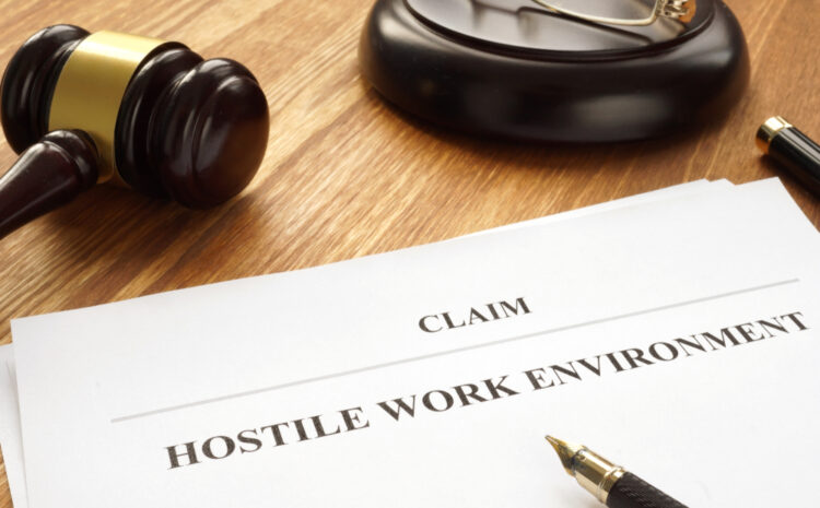featured image showing Claim about hostile work environment in a court