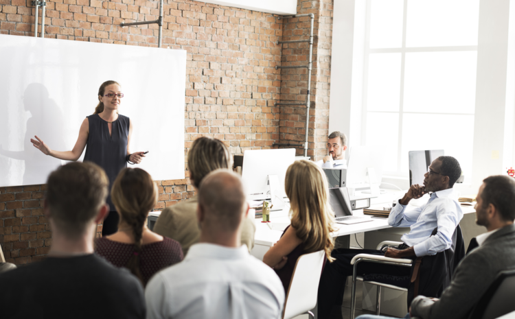 featured images showing a diverse business team training